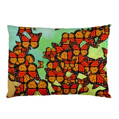 Monarch Butterflies Pillow Case (two Sides) by linceazul