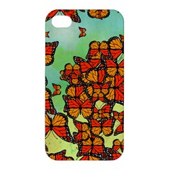 Monarch Butterflies Apple Iphone 4/4s Premium Hardshell Case by linceazul
