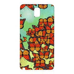 Monarch Butterflies Samsung Galaxy Note 3 N9005 Hardshell Back Case by linceazul