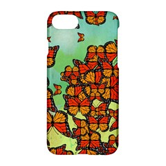 Monarch Butterflies Apple Iphone 7 Hardshell Case by linceazul