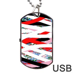 Art Dog Tag Usb Flash (one Side) by Valentinaart