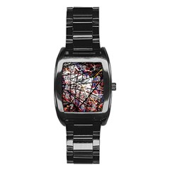 Art Stainless Steel Barrel Watch