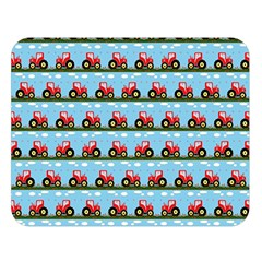 Toy Tractor Pattern Double Sided Flano Blanket (large)  by linceazul