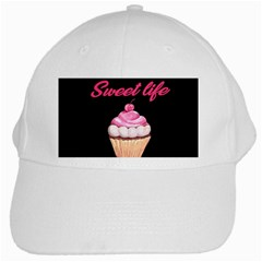 Sweet Life White Cap by Valentinaart