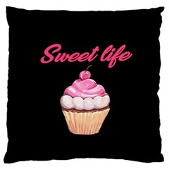 Sweet Life Large Flano Cushion Case (one Side) by Valentinaart