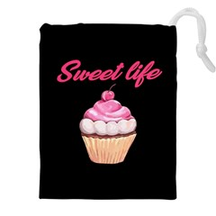 Sweet Life Drawstring Pouches (xxl) by Valentinaart