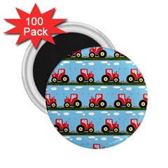 Toy Tractor Pattern 2 25  Magnets (100 Pack)  by linceazul