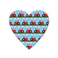 Toy Tractor Pattern Heart Magnet by linceazul