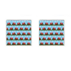 Toy Tractor Pattern Cufflinks (square) by linceazul