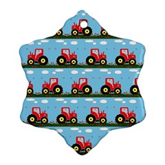 Toy Tractor Pattern Ornament (snowflake) by linceazul