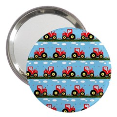 Toy Tractor Pattern 3  Handbag Mirrors by linceazul