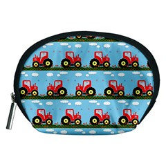Toy Tractor Pattern Accessory Pouches (medium)  by linceazul