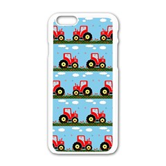Toy Tractor Pattern Apple Iphone 6/6s White Enamel Case by linceazul
