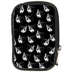 Cat Pattern Compact Camera Cases by Valentinaart
