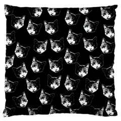 Cat Pattern Large Cushion Case (two Sides) by Valentinaart