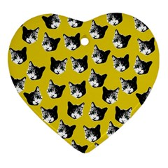 Cat Pattern Ornament (heart) by Valentinaart