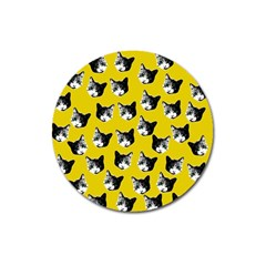 Cat Pattern Magnet 3  (round) by Valentinaart