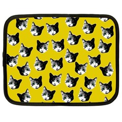 Cat Pattern Netbook Case (xl)  by Valentinaart
