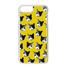 Cat Pattern Apple Iphone 7 Plus White Seamless Case