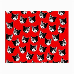 Cat Pattern Small Glasses Cloth by Valentinaart