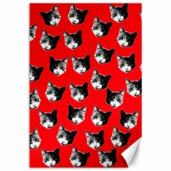 Cat Pattern Canvas 12  X 18