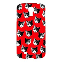 Cat Pattern Samsung Galaxy S4 I9500/i9505 Hardshell Case by Valentinaart
