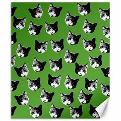 Cat Pattern Canvas 20  X 24   by Valentinaart