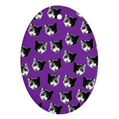 Cat Pattern Ornament (oval) by Valentinaart