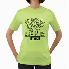 Seal Of Indian State Of Bihar  Women s Green T-shirt by abbeyz71