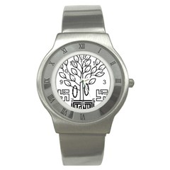 Seal Of Indian State Of Bihar  Stainless Steel Watch
