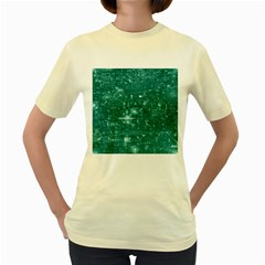 /r/place Emerald Women s Yellow T Shirt by rplace