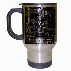 /r/place Retro Travel Mug (silver Gray)