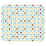Ladybugs Pattern Double Sided Flano Blanket (Small)  50 x40 Blanket Back
