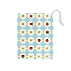 Ladybugs Pattern Drawstring Pouches (medium)  by linceazul