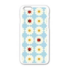 Ladybugs Pattern Apple Iphone 6/6s White Enamel Case by linceazul