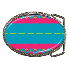 Blue Green Chains        Belt Buckle by LalyLauraFLM