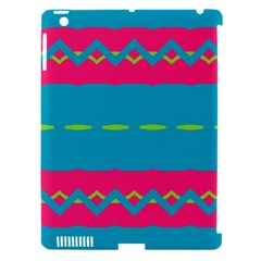 Blue Green Chains  Apple Ipad 3/4 Hardshell Case (compatible With Smart Cover) by LalyLauraFLM