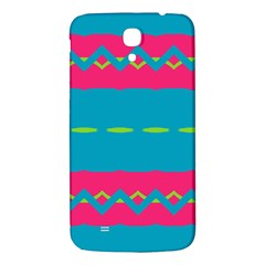 Blue Green Chains  Samsung Galaxy Note 4 Pu Leather Hardshell Back Case by LalyLauraFLM