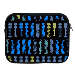Blue Shapes On A Black Background  Apple Ipad 2/3/4 Protective Soft Case by LalyLauraFLM