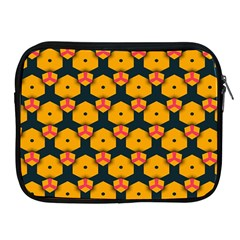 Yellow Pink Shapes Pattern   Apple Ipad 2/3/4 Protective Soft Case by LalyLauraFLM