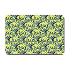 Black And Yellow Pattern Small Doormat  by linceazul