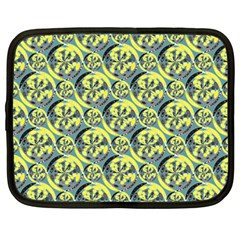 Black And Yellow Pattern Netbook Case (large) by linceazul