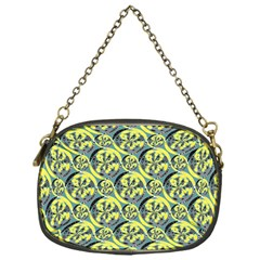 Black And Yellow Pattern Chain Purses (one Side)  by linceazul