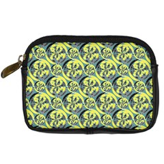 Black And Yellow Pattern Digital Camera Cases by linceazul