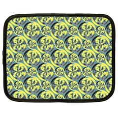 Black And Yellow Pattern Netbook Case (xxl)  by linceazul