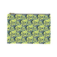 Black And Yellow Pattern Cosmetic Bag (large)  by linceazul
