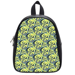 Black And Yellow Pattern School Bags (small)  by linceazul