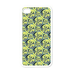 Black And Yellow Pattern Apple Iphone 4 Case (white) by linceazul