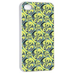 Black And Yellow Pattern Apple Iphone 4/4s Seamless Case (white) by linceazul