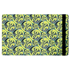 Black And Yellow Pattern Apple Ipad 3/4 Flip Case by linceazul